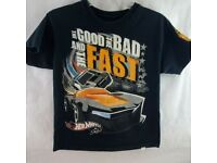 Hot Wheels Personalised Kids T Shirt BIRTHDAY ANY NAME /& NUMBER 1yr to 15yrs