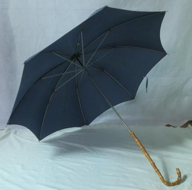 Vintage St. Michael Newey England Umbrella With Wangy Bamboo Handle