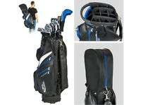 (2X.) Complete full Golf set 13 clubs right hand graphite steel + deluxe stand bag
