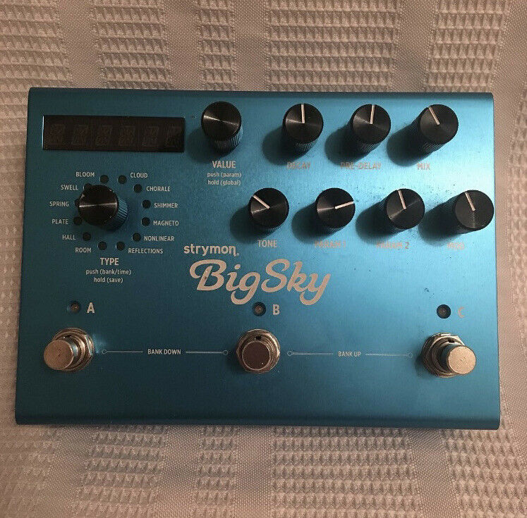 Strymon BigSky Multi Reverb Effects Pedal