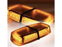 Amber led roof beacon recovery rescue 12v Brand new magnetic