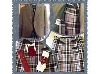 Men's Handmade kilt worn 1 hour only!!! BARGAIN.