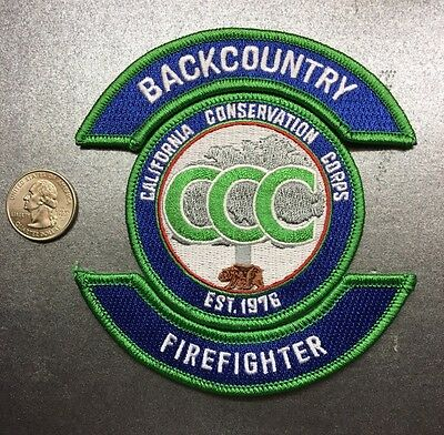California Conservation Corps Ccc Backcountry Wildland Firefighter Patch
