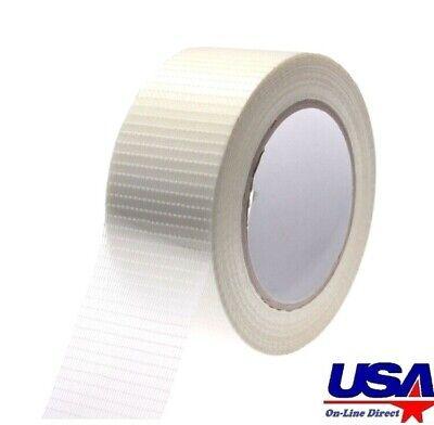 Industrial Fiberglass Filament Clear Transparent Packing Tape 2 Inch x 60 Yards