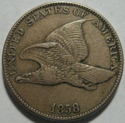 = 1858 XF+ FLYING Eagle Cent, LARGE Letters Super EYE Appeal, FREE Shipping