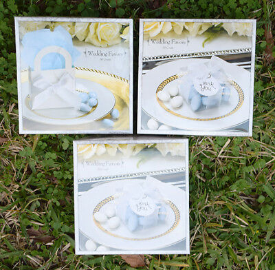 LOT OF 3 Wedding Favor Kits 50 Count ~ TOTAL OF 150 Boxes, Ribbons, Seals, NEW (Wedding Favor Kits)