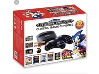 SEGA Megadrive console with 80 games