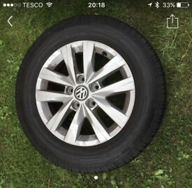 """VW T5 T6 16"""" alloy wheels and continental tyres"""