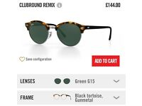 Ray Ban Club Round Sunglasses bought for £144 selling for £100 including postage. Open to offers