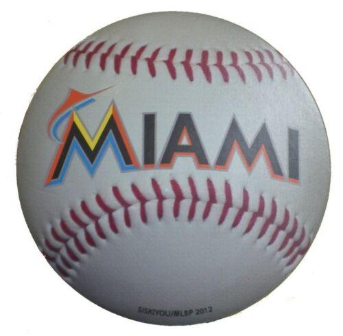 """Miami Marlins Baseball Magnet 4.5"""" Indoor Outdoor Grade Mlb Licensed"""
