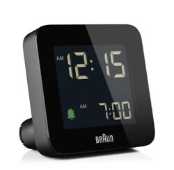 BNC009-RC Braun Digital Radio Controlled Alarm Clock - Black