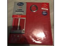 """Light reducing curtains with eyelets, red 46x72"""""""