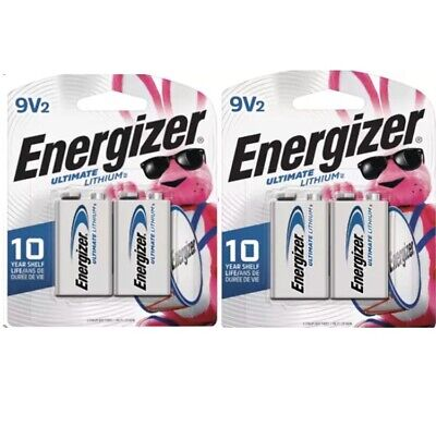 Energizer Ultimate Lithium Batteries 9V, EXP 2028 Or Better (4 TOTAL 9