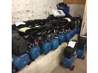 24 LTR - 2 HP - 8 BAR Air Compressor - Checked Over Catalogue Return