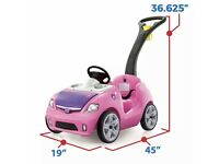 Pink outdoor toy car ride on