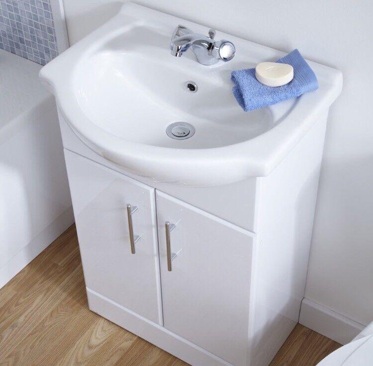 White Bathroom Cabinet In Washington Tyne And Wear Gumtree