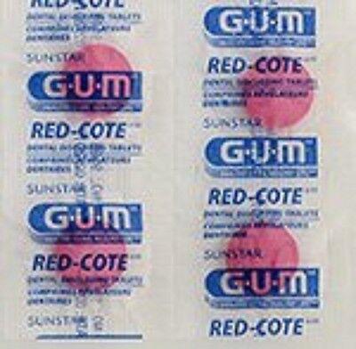 (248 Tablets Sunstar GUM Red-Cote Dental Disclosing Tablets- Cherry )