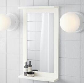Ikea mirror with shelf