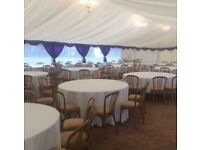 Chair hire, table hire, dancefloor hire, marquees & backdrops