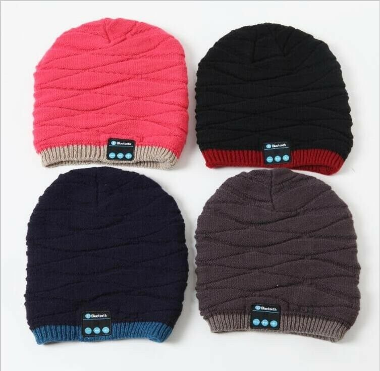 eff96be2581 New Arrival Woman Bluetooth Beanie Skull Cap Knitted Winter Hand-free Music  Hat