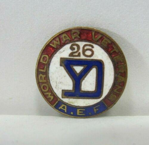 Vintage World War Veterans A.E.F. Enameled Pin