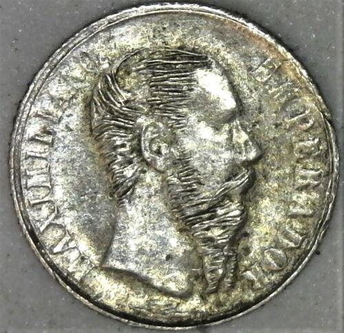 1865 MEXICO MAXIMILIANO WEDDING TOKEN MEDAL 10mm Silver