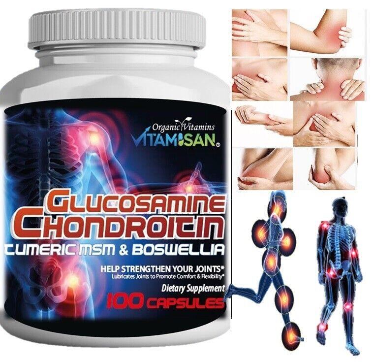 Organic Supplements Joint Support Turmeric Glucosamine Anti