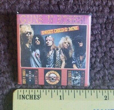 Vintage Guns N' Roses Sweet Child O'Mine Concert Pin Back Button GNR rock