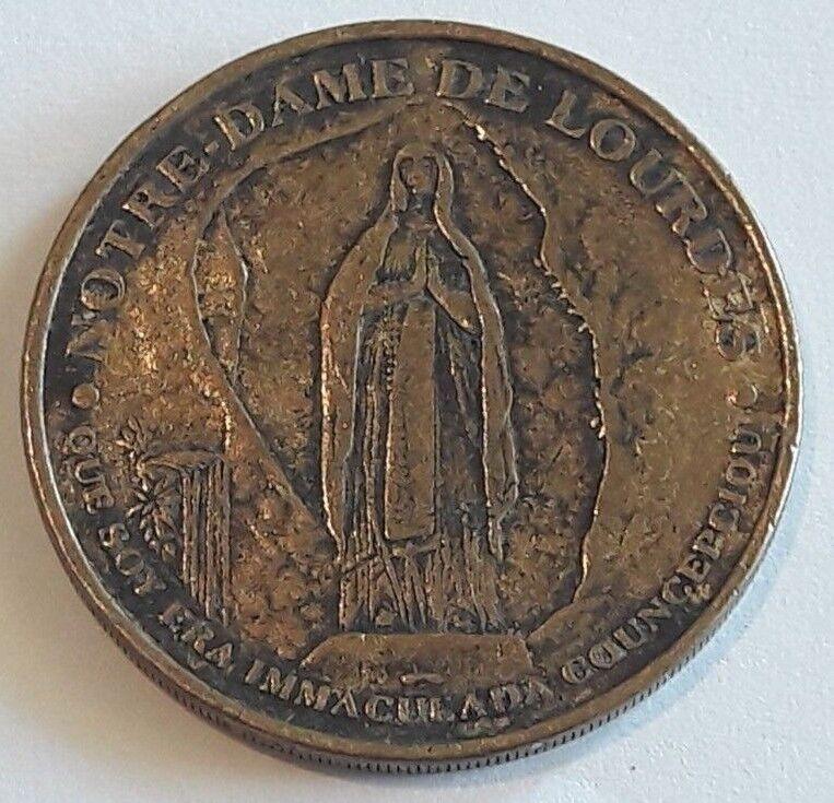 Notre dame de Lourdes Medaille Medal Latin Version