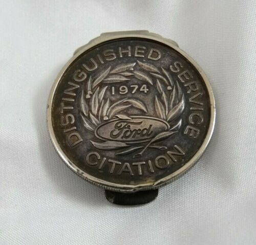 Sterling Silver Ford 1974 Distinguished Service Citation Coin Award Money Clip