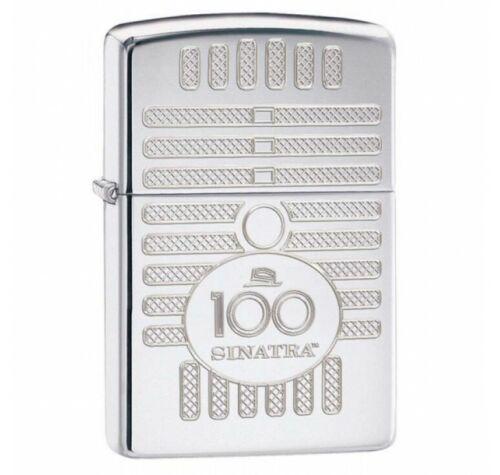 Rare Retired 2015 Frank Sinatra 100th Birthday Zippo Lighter