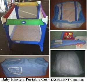 Portable Cot-Baby Einstein by GRACO-with netting &accessories-Ex/Cond