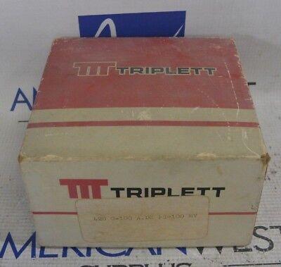 Triplett 420 0-100a.dc Fs100 Mv Meter New In Box