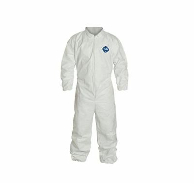 Dupont Tyvek 400 Ty125s Disposable Coverall Wzipper Elastic Wristsankles Xxl