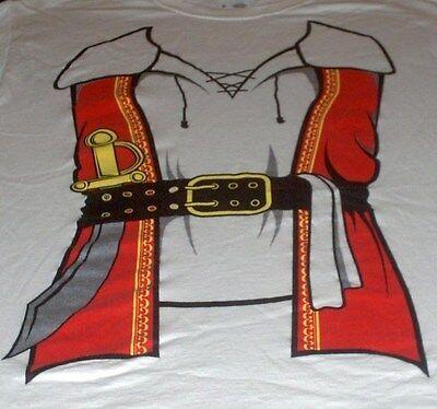 Kostüme Adult T Shirt Tee (Pirate Costume T-Shirt - Humorus Adult Buccaneer Pirate Tee - Size M)