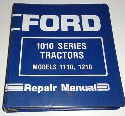 Ford 1110 1210 Tractor Service Repair Shop Workshop Manual Binder Original