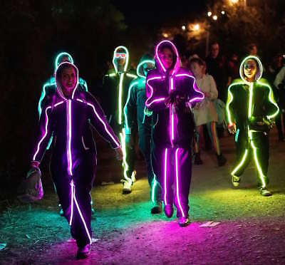 LED StickMan - most unique halloween outfit this year! - Stickman Costume Halloween