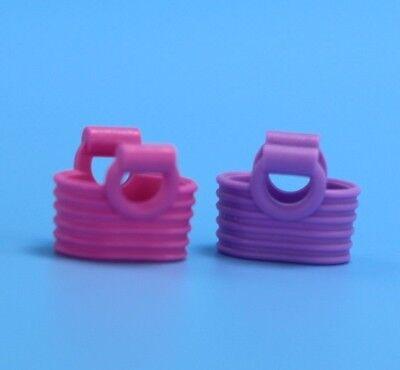 Lego Minifigure Pink & Purple Picnic Baskets Bag  Parts Bricks Accessories  - Picnic Baskets Wholesale
