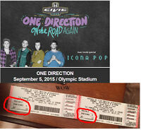 ONE DIRECTION On the Road Again Tour 2015 parterre  Row  v  sect