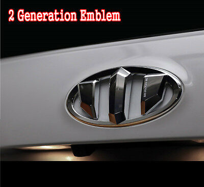 2G Brenthon Grill Trunk Emblem For 2011~2016+ Hyundai Accent Solaris Wit 5Door