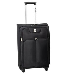 """ATLANTIC Ultra Light 26"""" Expandable Spinner Suitcase - Blk"""