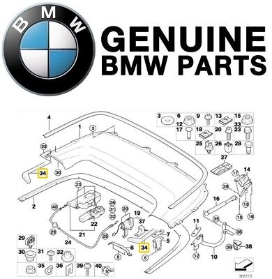 Used, For BMW E46 323Ci 325Ci 330Ci M3 Convertible Top Case Seal Genuine 51718227910 for sale  Shipping to Canada