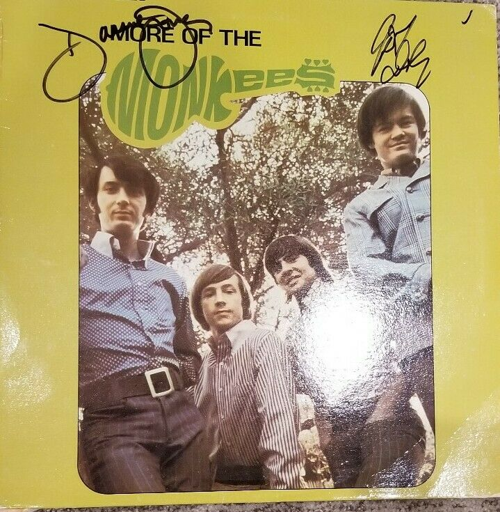 "THE MONKEES SIGNED ""MORE OF THE MONKEES"" LP ALBUM SIGNED BY DAVY & MICKY"