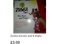 Zumba dvd (for abs, bums & thighs)