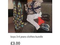 Boys clothes/shoes bundle size 3-4 years