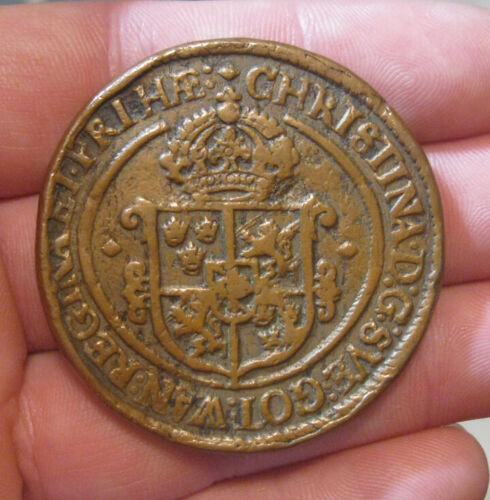 Sweden - 1647 Hige Copper Ore - Nice Coin!