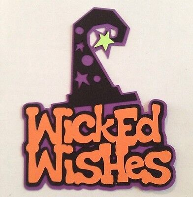 Halloween Cards With Cricut (New Halloween Wicked Wishes Wizard Hat Cricut Die Cut Handmade With Card)
