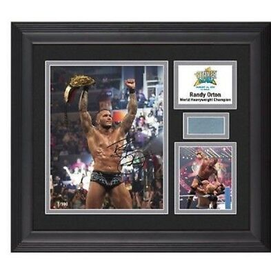 authentic randy orton summerslam plaque autographed 33# of 500