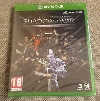 Microsoft Xbox One Game Middle Earth Shadow of War Silver Edition New Sealed
