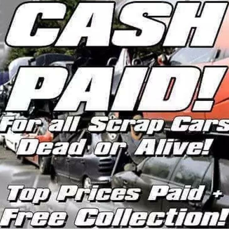 £140 min paid for scrap cars wanted vans